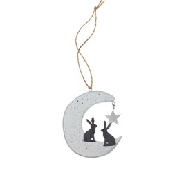Hares on the Moon Hanging Decoration