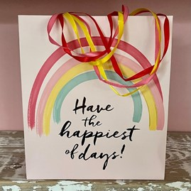 'Have The Happiest Of Days' Large Gift Bag