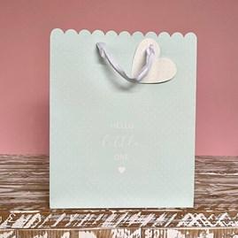 'Hello Little One' Blue Medium Gift Bag