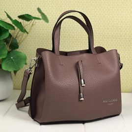 Tote Bag In Dusky Purple