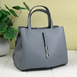 Tote Bag In Dusky Blue