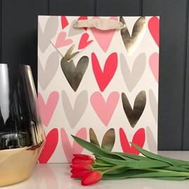 Caroline Gardner Hearts Large Gift Bag