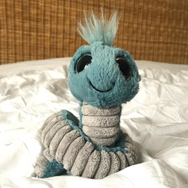 Jellycat Wiggly Worm Blue Soft Toy