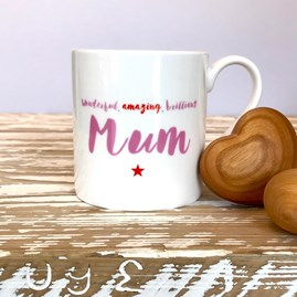 'Brilliant Mum' Bone China Mug