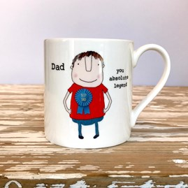 'Dad You Absolute Legend' Bone China Mug