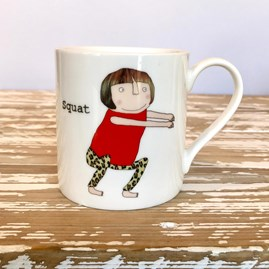 'Squat' Bone China Mug