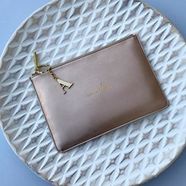 Katie Loxton Personalised 'Time To Shine' Rose Gold Perfect Pouch