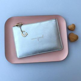 Katie Loxton Personalised 'Fabulous Friend' Silver Perfect Pouch