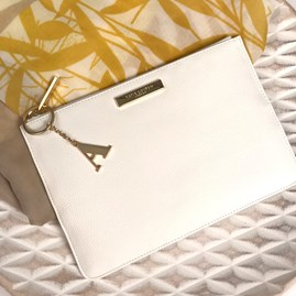 Katie Loxton Personalised Pebble Pouch In Ivory