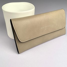Pastel Fold Over Purse In Silver