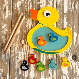 Wooden Hook A Duck Game