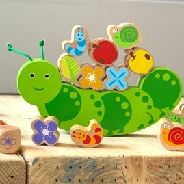 Wooden Caterpillar Balance Game