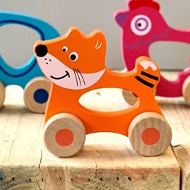 Wooden Fox Push Along Toy
