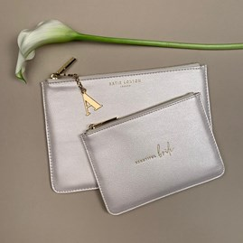 Katie Loxton Personalised 'Beautiful Bride' Bridal Perfect Pouch Gift Set