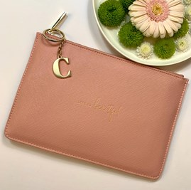 Katie Loxton Personalised 'Life Is Beautiful' Perfect Pouch In Pink