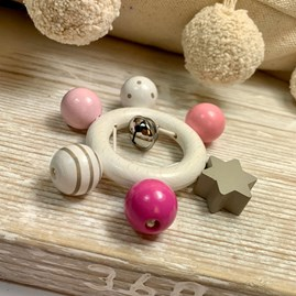 Pink Beads With Star Rattle