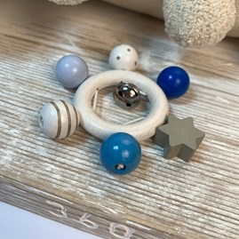 Blue Beads With Star Rattle
