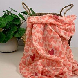 Pink Scarf With Hearts