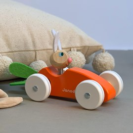 Wooden Rabbit And Carrot Car Toy