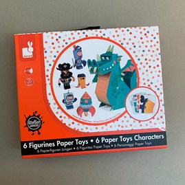 Fold Your Own Paper Toy Characters