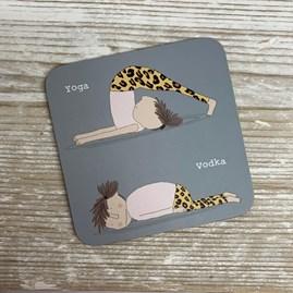 'Yoga... Vodka' Coaster