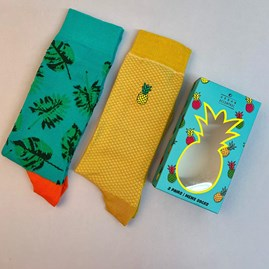 Pineapple Socks Gift Set Of 2