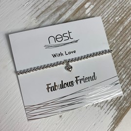'Fabulous Friend' Beaded Charm Bracelet
