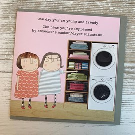 '... Impressed By Someone's Washer Dryer' Greetings Card