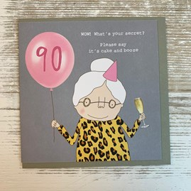 '90 WOW! What's Your Secret...' Greetings Card