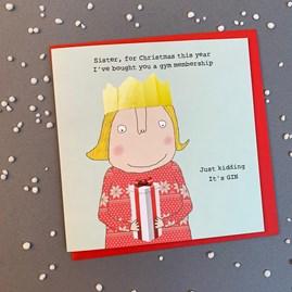 'Sister, For Christmas This Year...' Christmas Card
