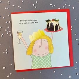 'Merry Christmas To A Brilliant Mum' Christmas Card