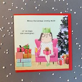 'Merry Christmas Lovely Wife...' Christmas Card