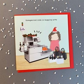 'Unexpected Item In...' Christmas Card
