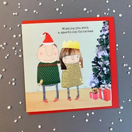 'Wishing You Both A Sparkling...' Christmas Card