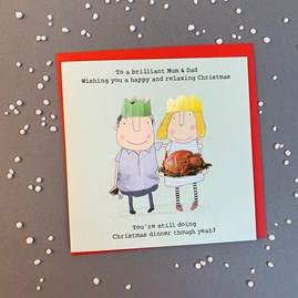 'To A Brilliant Mum & Dad...' Christmas Card