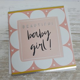 'Beautiful Baby Girl' Card