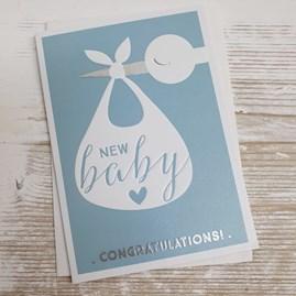 'New Baby... Congratulations!' Card - Boy