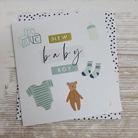 'New Baby Boy' Greetings Card