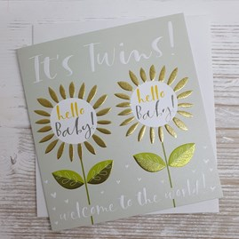'It's Twins! Welcome To The World' Card