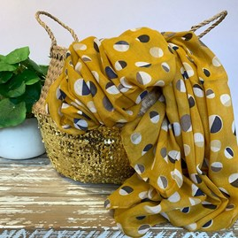 Half Circles Scarf in Yellow
