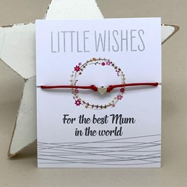 'For The Best Mum In The World' Wish Bracelet