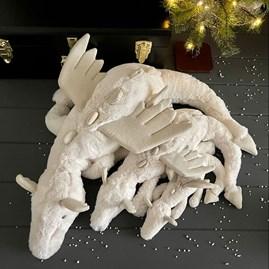 Jellycat Snow Dragon Huge Soft Toy