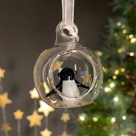 Glass Bauble With Penguin