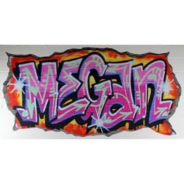 Personalised Pink Graffiti Wall Stickers