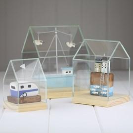 Glass And Pinewood Display House