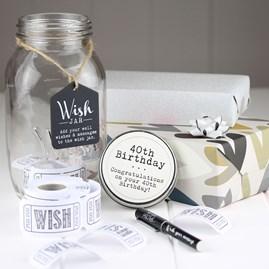 40th And 50th Birthday Wish Jars