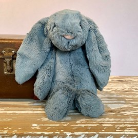 Jellycat Bashful Dusky Blue Bunny Medium Soft Toy