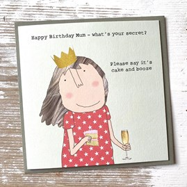 'Happy Birthday Mum...' Greetings Card