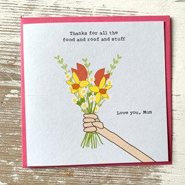 'Thanks For All The Food…And Stuff' Greetings Card