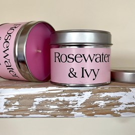 Pintail 'Rosewater & Ivy' Scented Candle Tin